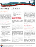 cover photo of HIV AIDS - a Fact Sheet