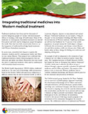 cover photo of Traditional Medicine - Fact Sheet